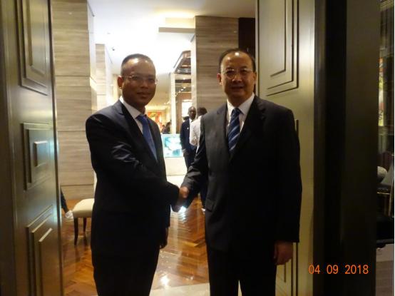 沛誉能源总经理与中能建国际公司董事长交流